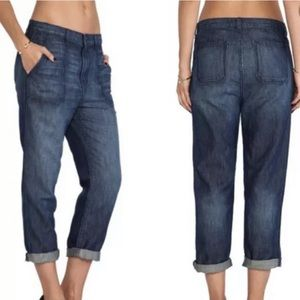 J Brand Utility Slouch Cropped Jeans in Rivington